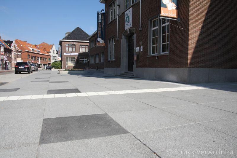 Lavaro betonstraatstenen 100x100 grijs en zwart