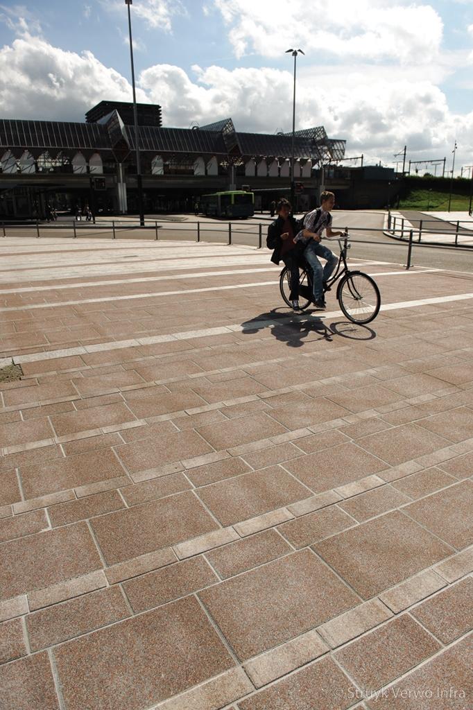 Stroken bestrating voor kantorenpark bestrating voetgangersgebied