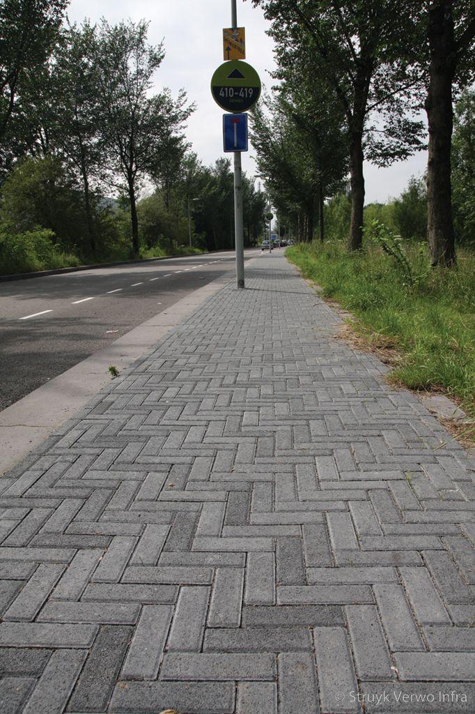 Novato nero dikformaat in elleboogverband kleurvaste betonklinkers