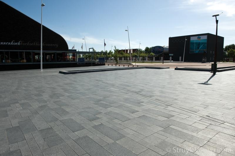 Liscio pietra wildverband geslepen bestrating bataviaplein gepolijste betonsteen