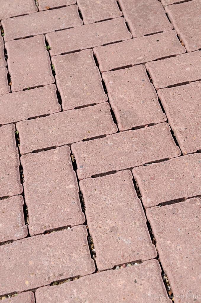 H2o stenen 21x10 5 rood waterpasserende betonstraatsteen