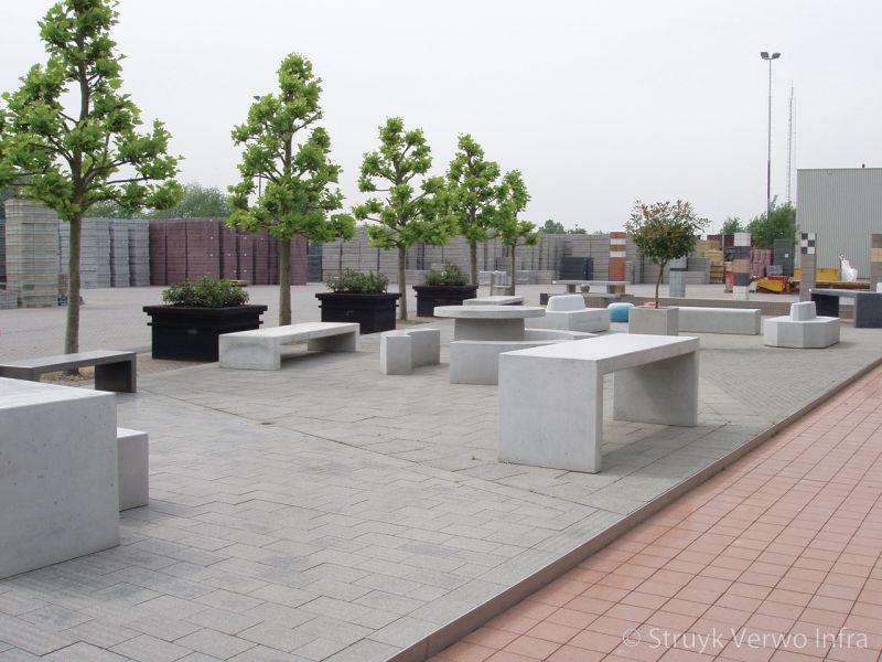 Betonnen picknickset betonnen parkbank