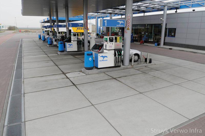 Vloeistofdichte vloer tankstation