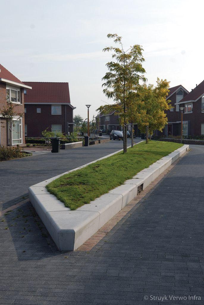 Parkbanden beton opsluiting groen
