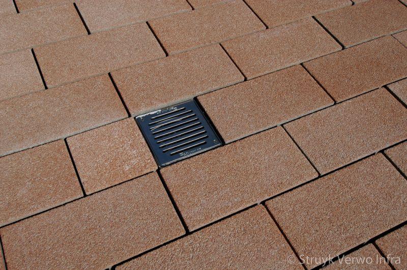 Breccia 40x20x8 ambrogio uitgewassen bestrating in wildverband gewassen betonstraatsteen