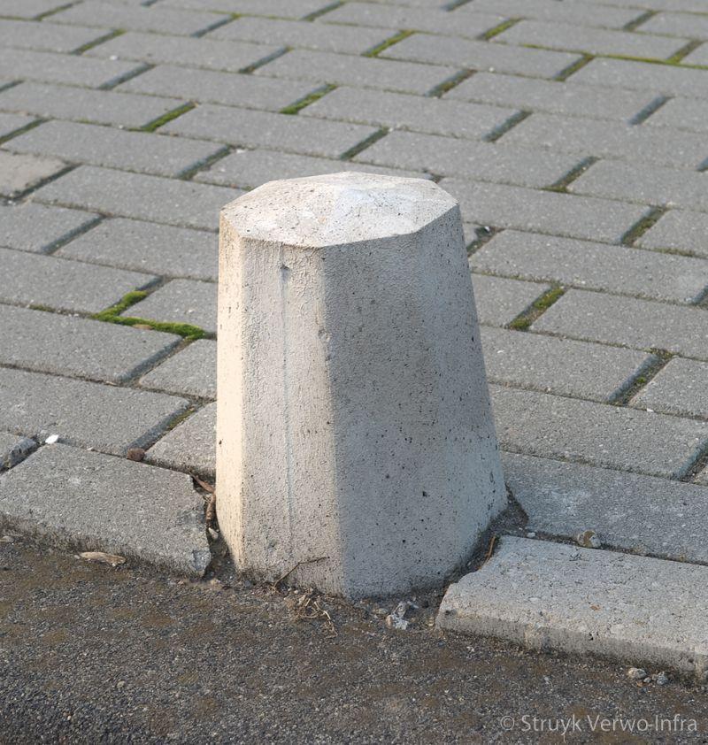 Antiparkeerpaal op trottoir plasweg