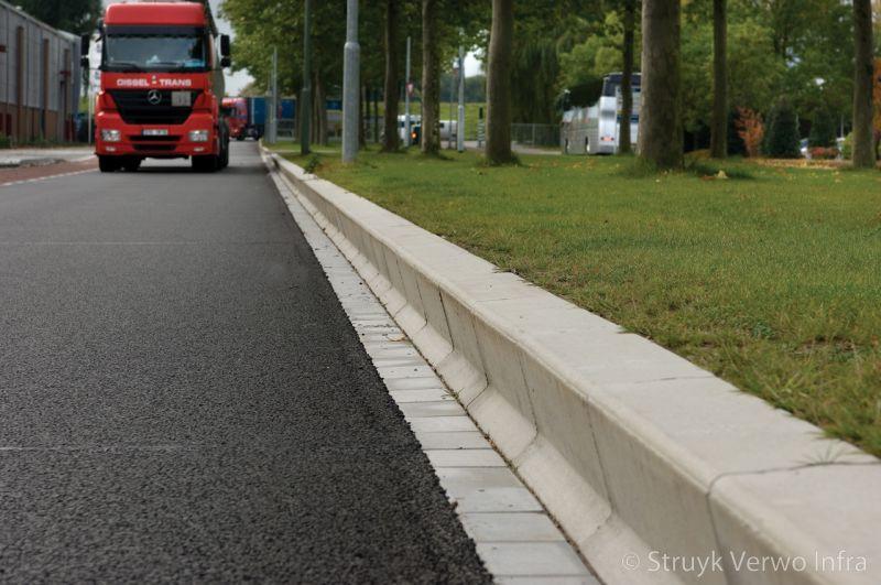 Amstelband langs groenstrook betonnen verkeersgeleidebanden kamerling onnesweg dordrecht