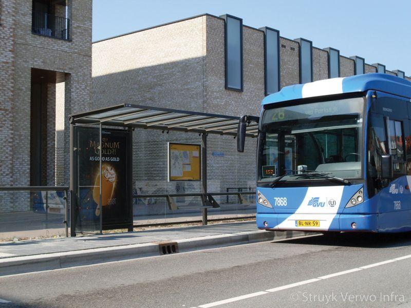 Inrichting halteplaats bus busbaan vleuterweide hov band