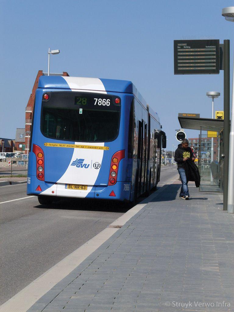 Band toegepast bij bushalte busbaan vleuterweide