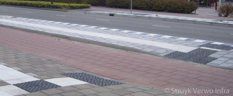 Bushalte met geleidelijnen crow hov band bushaltebanden