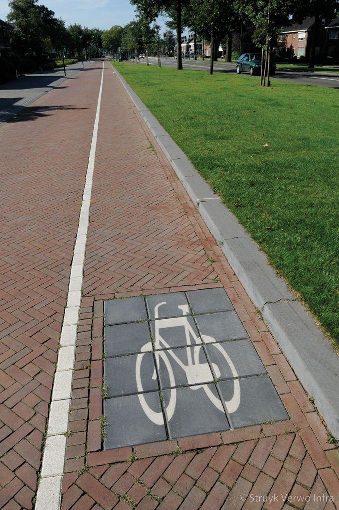 Symbooltegels 30x30 fietstableau symbooltegels met een fiets