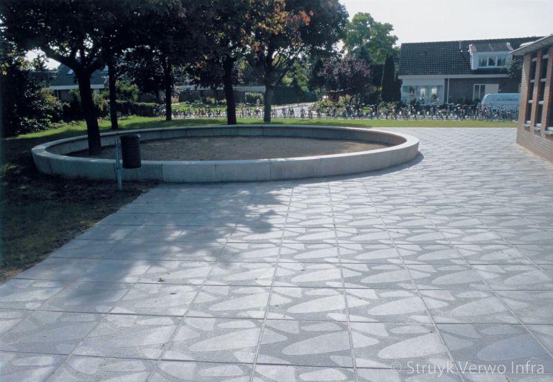 Floating pebbles 60x60 figuratietegels inrichting schoolpleinen