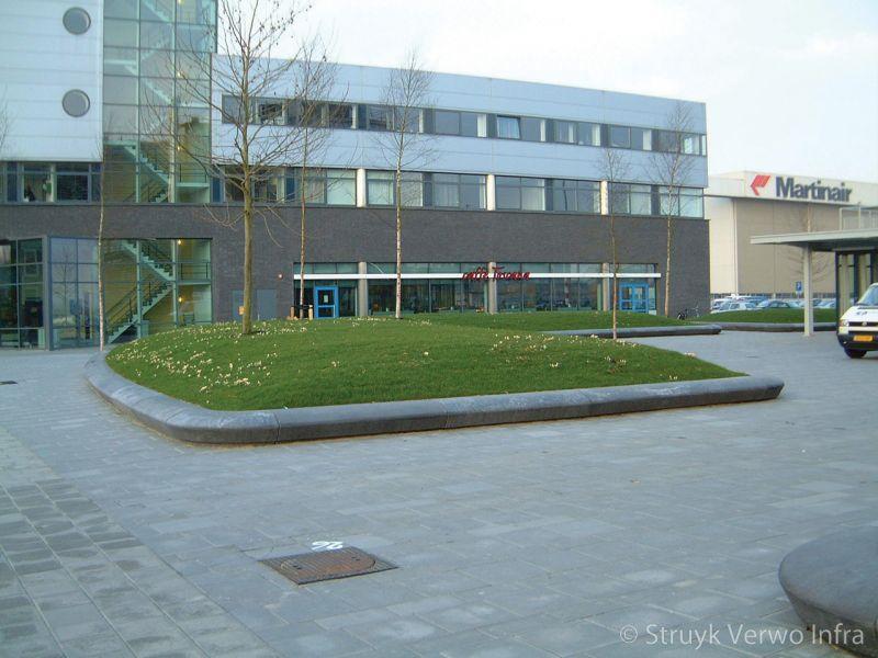 Bloembakbanden 60x35 plantvakken beton parkbanden groenomranding