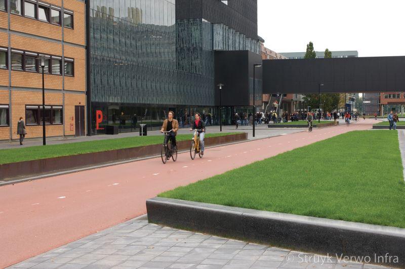 Zitelement zwart terrazzo voorzien van anti graffiti parkbanden beton