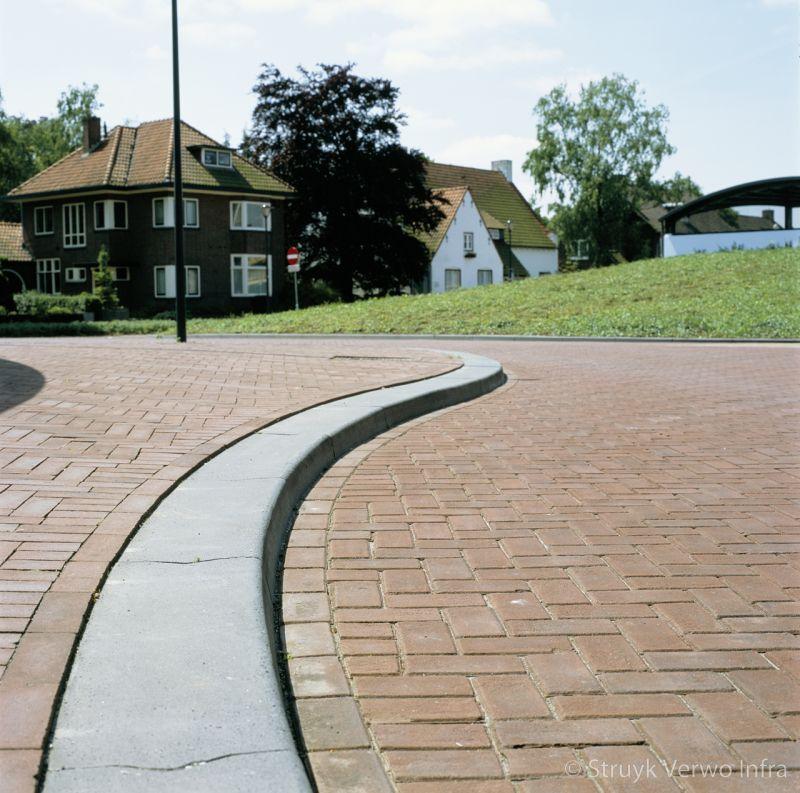 Brede trottoirband lijnbanden beton brede betonband