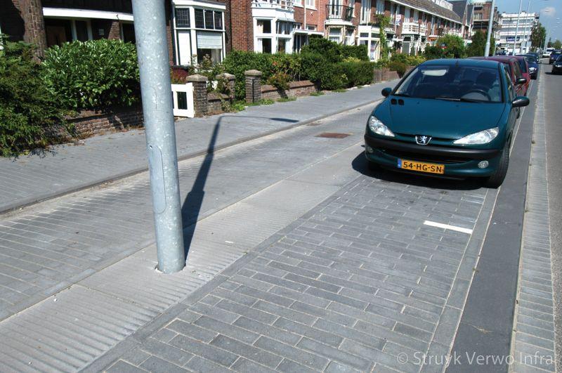 Parkeerplaatsen met schrikstrook sonara novato 100x80x12 5cm nero