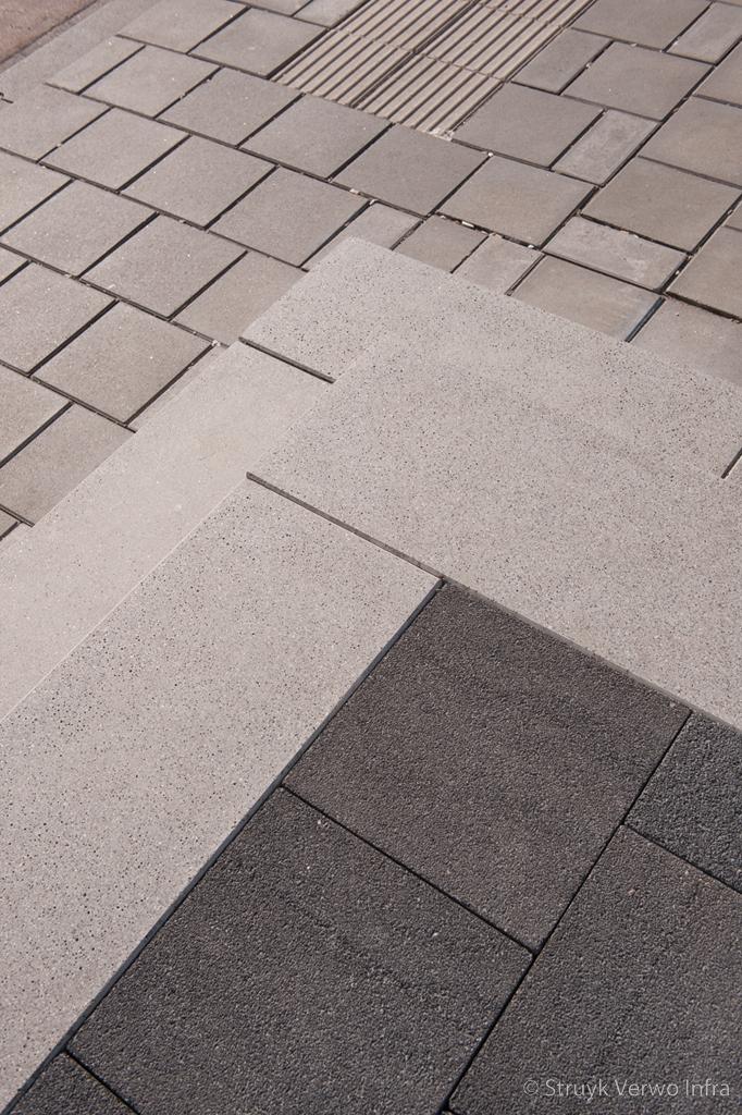 Geslepen traptreden grijs rompertpassage den bosch traptrede beton