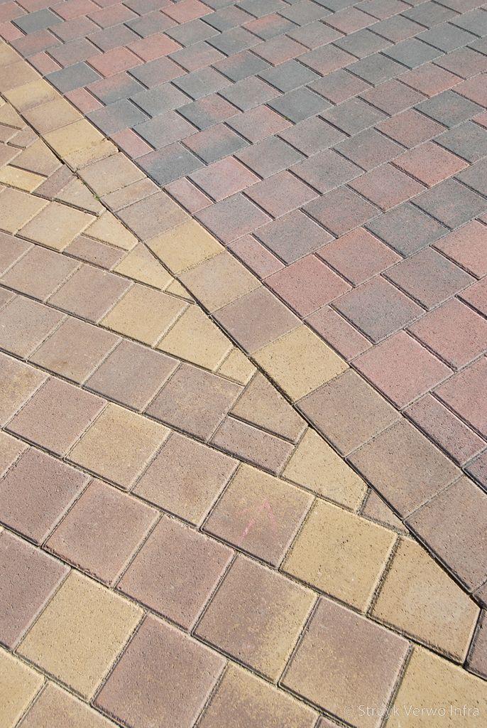 Kleurvaste betonstraatsteen elementenverharding trottoir