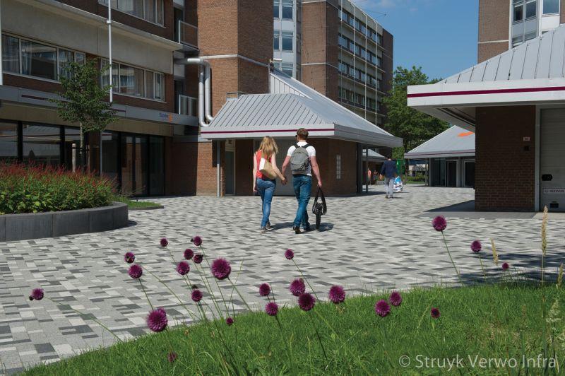 Lavaro betonstraatstenen in wildverband campus diemen zuid