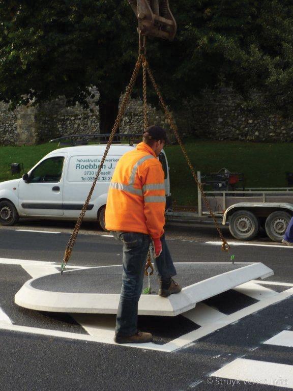 Verwijderbare verkeersgeleider demontabel verkeerseiland