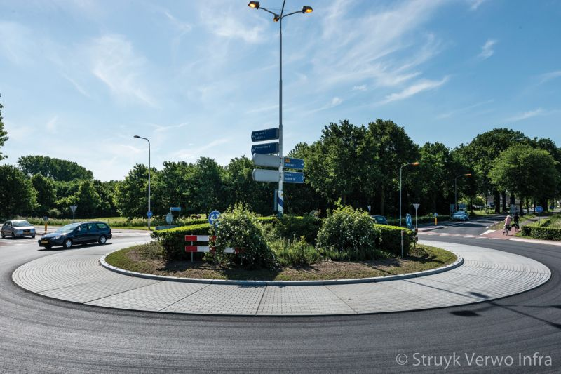 Rotonde middeneiland zelfverdichtend beton