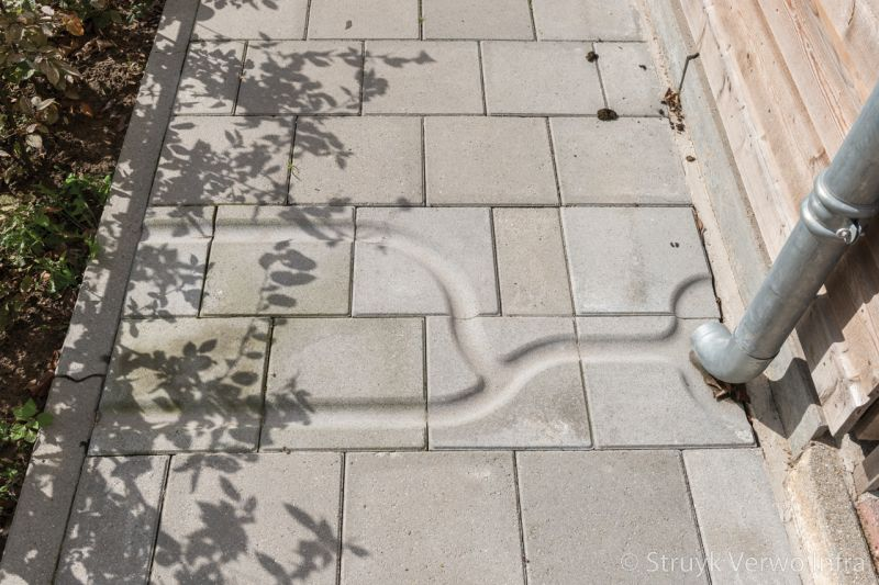 Afvoer hemelwater via trottoirtegels