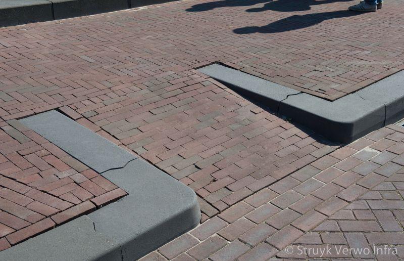 Inrit met betonnen banden 28 30