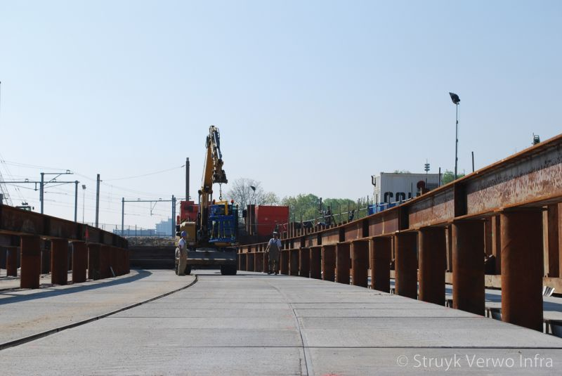 Vloerplaten spoorwegviaduct