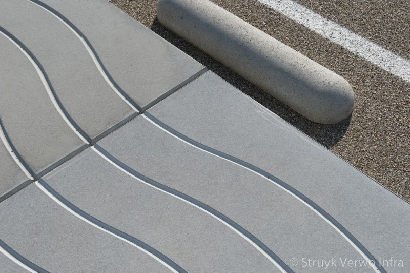 Golfpatroon in beton