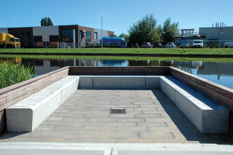 Zithoek betonnen zitelement solid campus papendrecht