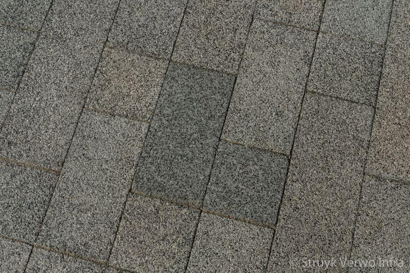 Uitgewassen bestrating in diverse afmetingen chopinplein in culemborg inrichting voetgangerszone