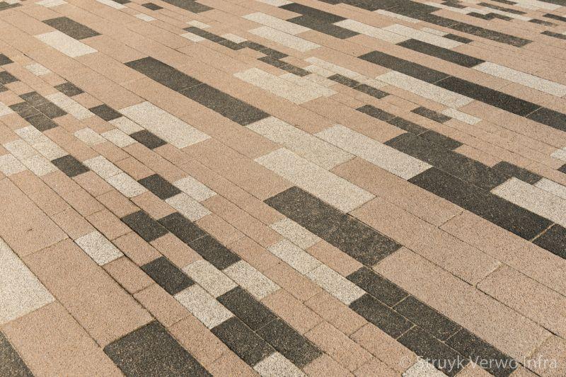 Wildverband in diverse kleuren en formaten kleurvaste betonstraatstenen