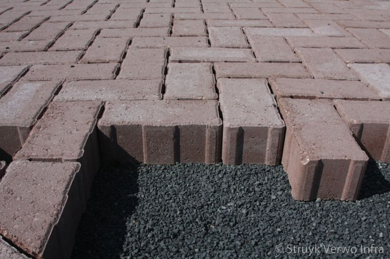 H2o stenen op straatlaag met kepersteen