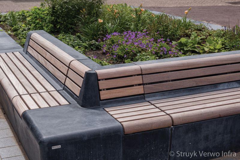 Parkbanden toegepast in reconstructie looijersplein in dongen