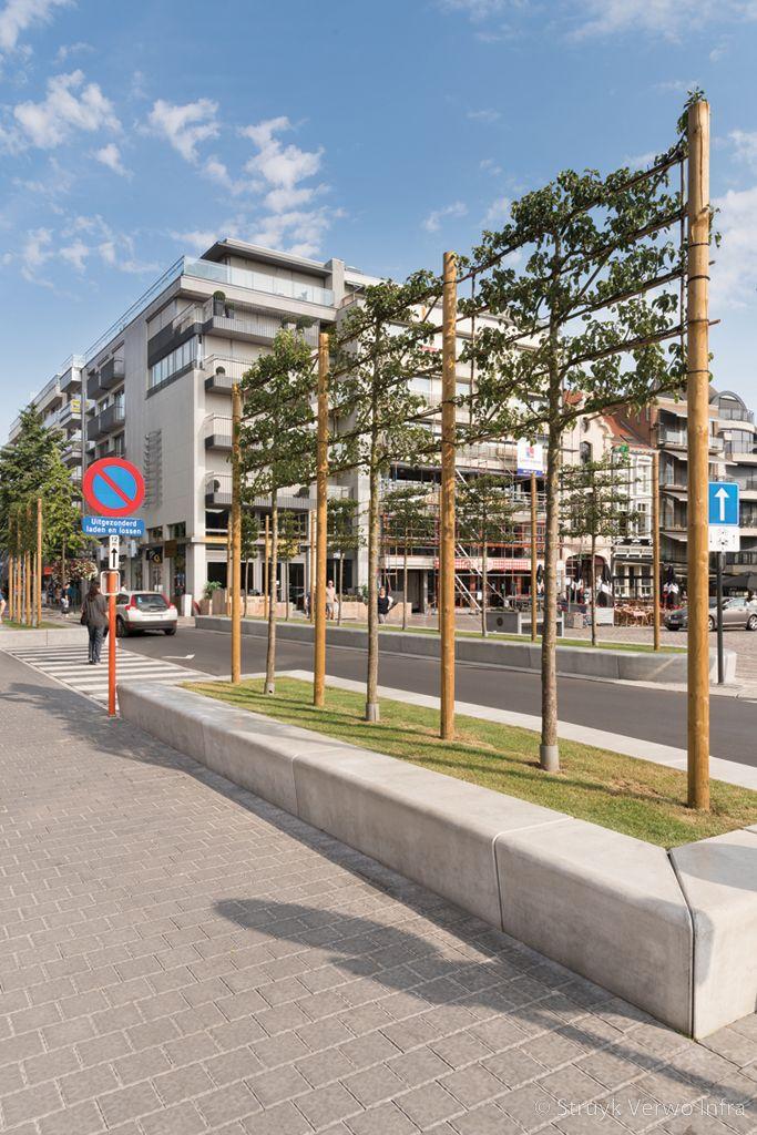 Betonnen parkbanden groenopsluiting plantvakken beton