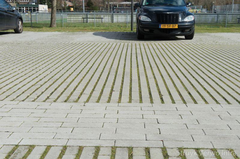 Hydro lineo groenbestrating mient den haag groene parkeerplaats graslijnen