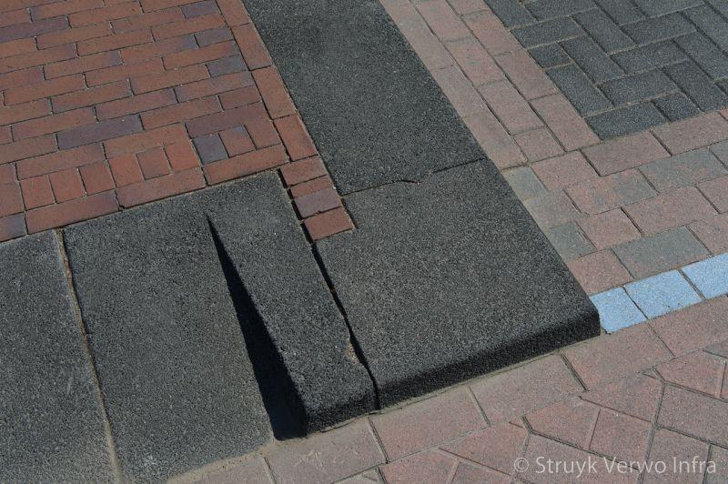 Hoekstuk trottoirband 38 40 gewassen zwart lavaro inritband 65x20x50cm vlak zwart glisando