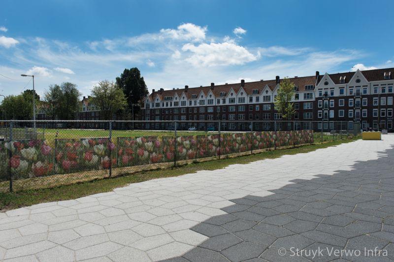 Parkstenen in woonwijk