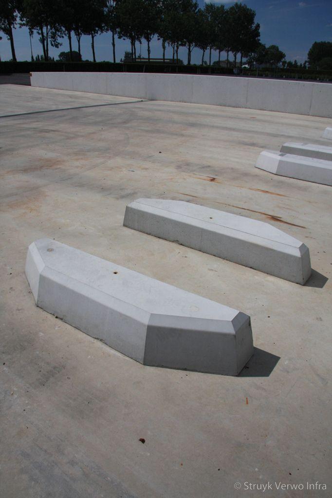Geleiders voor laadstation betonnen geleidingselementen