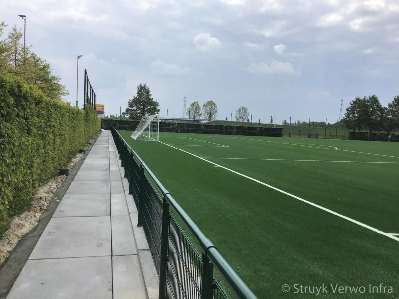 Vloerplaat rondom sportvelden opsluitplaat vloerpalat met opstaande rand