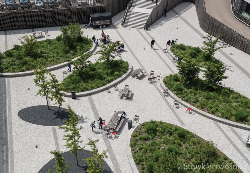 Inrichting secoya campus op papendorp te utrecht bovenaanzicht verblijfsplek