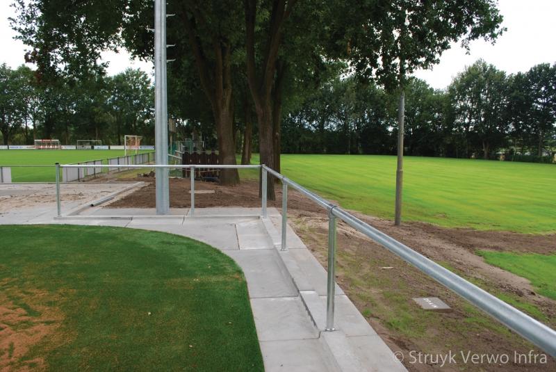 Infill barrier sportvelden hoekoplossing sportveld