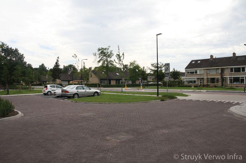 Herinrichting acaciaplein schagen parkeervakken beton