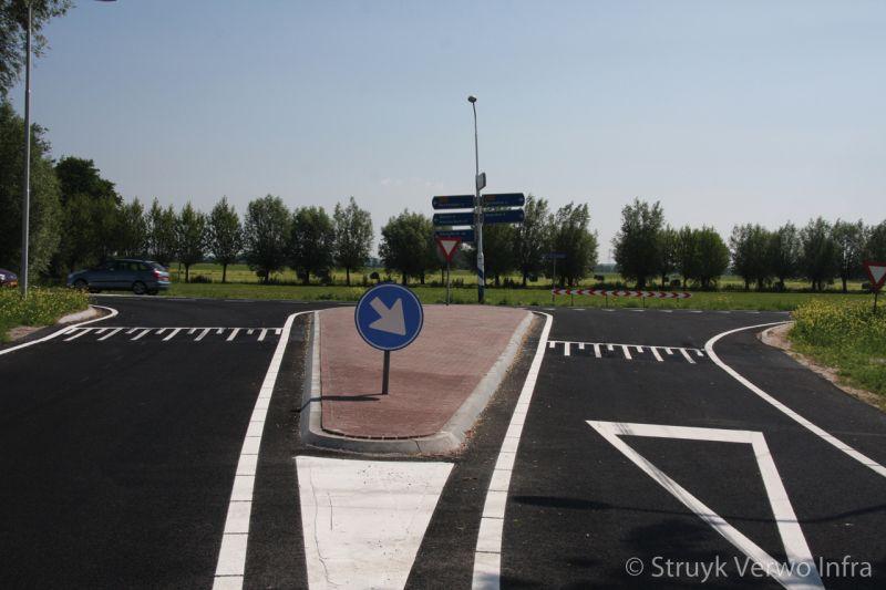 Kruispunt provinciale weg kamerik