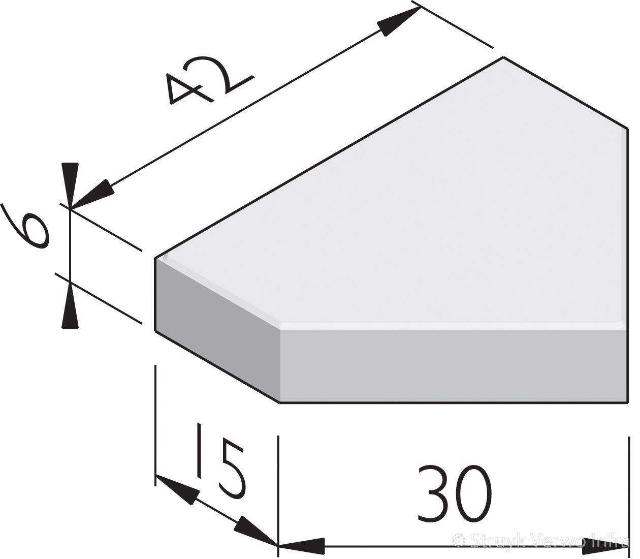 Bisschopmutsen 30 betonstraatstenen 30 cm breed for Ladenblok 30 cm breed