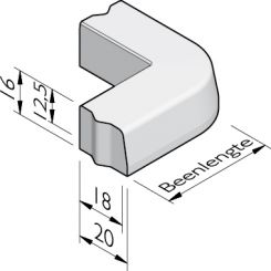 Trottoirband hoekstukken 18/20x16 vb