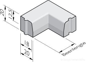 Trottoirband hoekstukken 18/20x20 hd