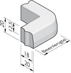 Trottoirband hoekstukken 18/20x20 vb