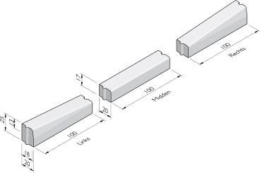 Inritverloopbanden 18/20x25 hd