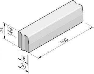 Trottoirbanden 18/20x25 vb